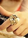 Кольца Свадьба / Для вечеринок / Повседневные Бижутерия Сплав Классические кольцаРегулируется Золотой / Прозрачный / Слоновой кости