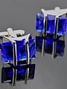 toonykelly мода мужская серебро медь корона с кристально запонки (1 пара)
