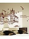 marrom ponte de Londres adesivos de parede