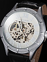 Men's Watch Automatic self-winding Skeleton Watch Hollow Engraving Leather Band Cool Watch Unique Watch
