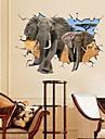 Животные Романтика Натюрморт Мода Пейзаж фантазия 3D Наклейки 3D наклейки Декоративные наклейки на стены,Бумага материал СъемнаяУкрашение