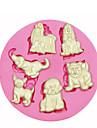 퐁당 사탕 공예 보석 PMC 수지 점토 멀티 귀여운 애완 동물 개 실리콘 몰드 케이크 장식 실리콘 몰드