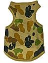 Cat / Dog Shirt / T-Shirt Green Dog Clothes Summer Camouflage Wedding / Cosplay