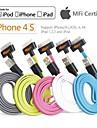 la synchronisation des donnees 30pin et le chargeur cable usb mfi certifie original pour iPhone 4 / 4S et iPad 3/2/1 (100cm)