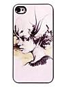 живопись маслом женщин алюминиевая конструкция жесткий футляр для iPhone 5 / 5S