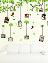 Environmental Removable Tree And Photo Frame Pattern PVC Wall Sticker