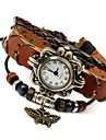 Women's Fashion Sweet Temperament Wild Leather Butterfly Beaded Bracelet Watch Cool Watches Unique Watches