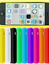 BIG D Silica Gel Pudding Back Case for iPhone 5C(Assorted Color)