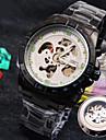 nouveau bracelet en acier inoxydable a cadran symphonique explosion de verre rond entreprise de mode montre mecanique des hommes (couleurs