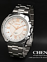 CHENXI® Men's Simple Design Dress Watch Japanese Quartz Water Resistant Silver Steel Strap Cool Watch Unique Watch