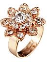 Lovely Rhinestone Sunflower Golden Ring For Women(1 Pc)