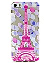 Pink Tower Pattern TPU Relief Back Cover Case for iPhone 5