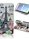 Tower Flowers Pattern PU Leather Full Body Case with Card Slots And Stand Case for  Samsung Galaxy S6