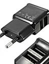 sortie USB universel double et compact eu brancher l\'adaptateur secteur pour iPhone et Samsung