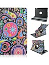 9.7 Inch 360 Degree Rotation Circle Pattern with Stand Case and Pen for iPad Air 2/iPad 6