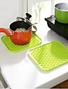 Пот Держатель и духовки For Для приготовления пищи Посуда Нержавеющая сталь Пластик Теплоизоляционный
