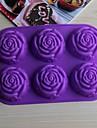 bakeware silicone rosa moldes de cozimento para bolo de chocolate jelly (cores aleatorias)
