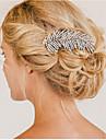 Vintage Wedding Party Bridal Bridesmaid Crystal Leaf Bridal Hair Comb 1pcs