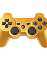 USD $ 15,95 - Kabelloses Dualshock Steuerkreuz fuer PlayStation3/PS3 (Gold)