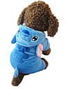 Gatos / Perros Disfraces / Saco y Capucha / Pijamas Azul Ropa para Perro Invierno / Primavera/Otono Caricaturas Adorable / Cosplay