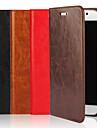 용 삼성 갤럭시 케이스 지갑 / 카드 홀더 / 스탠드 / 플립 케이스 풀 바디 케이스 단색 천연 가죽 Samsung S6