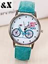 Dames Modieus horloge Kwarts Leer Band Vintage Zwart / Wit / Blauw / Rood / Bruin / Groen / Grijs / Geel / roze Merk-