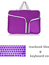"""Handbag for Macbook Pro 13"""" Macbook Air 13"""" MacBook Pro 13"""" with Retina display Solid Color Canvas Material Canvas Zipper Sleeve with Keyboard Cover"""