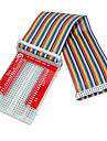 Raspberry Pie 3 GPIO Extended DIY Kit (40P +GPIO V2+400 Rainbow Line Hole Bread Board)