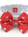 Chat Chien Cravate/Noeud Papillon Rouge Noir Vetements pour Chien Ete Printemps/Automne Noeud papillon Mariage Vacances