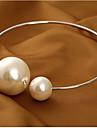 Femme Collier court /Ras-du-cou Collier de perles Colliers Declaration Forme de Cercle Perle Alliage Basique Mode Mariee enorme bijoux de
