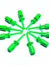 diy ponta da sonda de teste eletronico - verde (pacote 10 pecas)