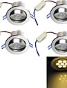 4 pcs YouOKLight 7W 7 High Power LED 650 LM Warm White Recessed Retrofit Decorative LED Recessed Lights AC 85-265 V