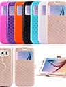 Para Samsung Galaxy Capinhas Porta-Cartao / Com Suporte / com Visor / Flip Capinha Corpo Inteiro Capinha Estampa Geometrica Couro PU