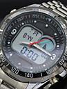 marque de mode de conception solaire alimente conduit quartz numerique montre-bracelet etanche hommes sport en acier pleins montre