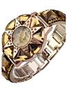 Quarz-Uhr-Edelstahl-Frauen-Kristalluhr eleganten Sterne-Kristall-Diamant Fall Uhr fuer die Dame