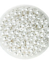 beadia 100г (приблизительно 1000шт) абс жемчуг 6 мм круглый белый цвет пластик распорных свободные шарики для поделок решений ювелирного