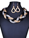 Ensemble de bijoux Alliage Mode Noir Gris Violet Rouge Bleu Mariage Soiree Quotidien Decontracte 1setColliers decoratifs Boucles