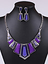 Women Vintage/Cute/Party/Casual Alloy/Gemstone & Crystal/Cubic Zirconia Necklace/Earrings Sets