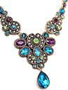 Femme Pendentif de collier Goutte Gemme Imitation de diamant Alliage Europeen Ecran couleur Bijoux Pour