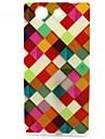 Para Capinha Sony Estampada Capinha Capa Traseira Capinha Padrao Geometrico Macia TPU para SonySony Xperia Z3 Compact / Sony Xperia M4
