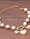 XIXI Women\'s The Newest Fashion Casual Gold Plated/Rhinestone Chain Bracelet/Imitation Pearl Statement