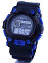 Hommes Bracelet Montre Numerique LCD / Calendrier / Chronographe / Etanche Caoutchouc Bande Noir / Bleu Marque-