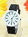 banda de silicona reloj de pulsera de cuarzo anolog de las mujeres (colores surtidos)