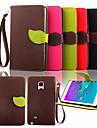 용 Samsung Galaxy Note 지갑 / 카드 홀더 / 스탠드 / 플립 케이스 풀 바디 케이스 단색 인조 가죽 Samsung Note 4 / Note 3 / Note 2 / Note Edge
