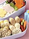 милый медведь цветок сэндвич кролика формы суши торт плесень яйцо резак