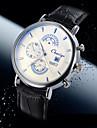 Men's Business Style Calendar  Dial Leather Band Quartz Wristwatch Wrist Watch Cool Watch Unique Watch