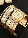 Femme Manchettes Bracelets Original Mode Multicouches Ouvert Europeen Vintage bijoux de fantaisie Alliage Bijoux Bijoux Pour Soiree