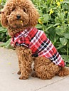 Cat / Dog Shirt / T-Shirt Red / Green / Blue Dog Clothes Summer Plaid/Check Wedding / Cosplay