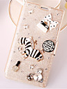 For Samsung Galaxy Note Card Holder / Rhinestone / with Stand / Flip Case Full Body Case 3D Cartoon PU Leather SamsungNote 4 / Note 3