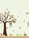Животные Мультипликация Наклейки Простые наклейки Декоративные наклейки на стены,Винил материал Положение регулируется Украшение дома